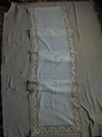 Ancien Grand/long Rideau Opaque Avec Frange - Drapery