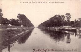 ALTE AK  SAINT-VALERY-SUR-SOMME / Dep. Somme - Le Canal De La Somme - 1906 - Saint Valery Sur Somme