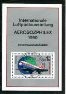 DDR 1980: Mi.-Nr. 2516-2519 Block 59   Interflug, - Gebraucht