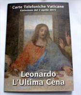 PITTURA - LEONARDO DA VINCI - VATICAN 2015 FOLDER NEW TELEPHONE CARDS - Painting