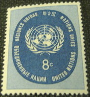 United Nations New York 1958 United Nations 8c - Mint - New York -  VN Hauptquartier