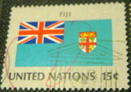 United Nations New York 1980 Flags Fiji 15c - Used - Oblitérés