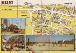 AK MAP, Citymap, Stadtplan **Heist** Belgien - Maps