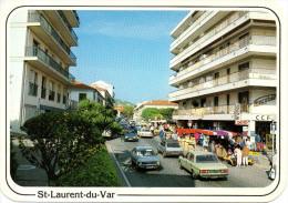 CP - PHOTO - ST LAURENT DU VAR - AVENUE GENERAL LECLERC -ANIMEE - VOITURES - Saint-Laurent-du-Var