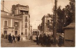 SARDEGNA-CAGLIARI-CAGLIARI VIA GARIBALDI VEDUTA TRAM D'EPOCA ANIMATISSIMA - Cagliari