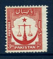 Pakistan 1948-57 Definitives - 3ps Value Used - Pakistan