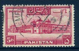 Pakistan 1948-57 Definitives - 5r Value Used - Pakistan