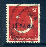 Pakistan 1961 Surcharges - 13p On 2a Value Used - Pakistan