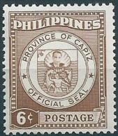 Philippines - 1959 - Seal Of Capiz - 6c  MNH- Scott#654 - Filippine