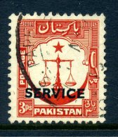 Pakistan 1953 SERVICE Overprints - 3p Value Used