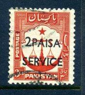Pakistan 1961 Surcharges SERVICE Overprints - 2p On 3a Value Used - Pakistan