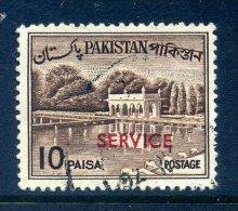 Pakistan 1961-63 SERVICE Overprints - 10p Value Used - Pakistan