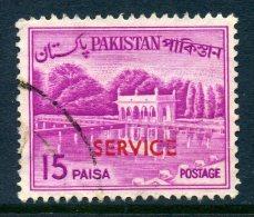 Pakistan 1961-63 SERVICE Overprints - 15p Value Used - Pakistan
