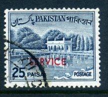 Pakistan 1961-63 SERVICE Overprints - 25p Value Used - Pakistan