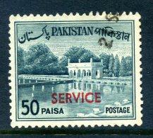 Pakistan 1961-63 SERVICE Overprints - 50p Value Used - Pakistan