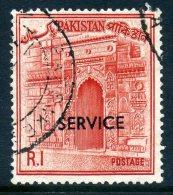 Pakistan 1961-63 SERVICE Overprints - 1r Value Used - Pakistan