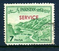 Pakistan 1963-78 SERVICE Overprints - 7p Value Used - Pakistan