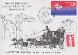 Carte  Bicentenaire  De  La   REVOLUTION    NIMES    1989 - Révolution Française