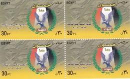 Stamps EGYPT 2002 SC-1816 POLICE DAY BLOCK OF 4 MNH  */* - Ongebruikt