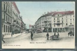 Jura  -  Bienne  -  Rue De La Gare  -  Carte Colorisée - Frankrijk