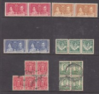 Northern Rhodesia, Unused, No Gum No Postmark;  Southern RHodesia C.d.s. Used; Multiples - Grande-Bretagne (ex-colonies & Protectorats)