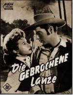 """Das Neue Film-Programm Von Ca. 1954  -  """"Die Gebrochene Lanze""""  -  Mit Spencer Tracy , Robert Wagner - Magazines"""