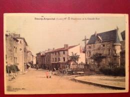 42 Loire BOURG ARGENTAL Le Presbytère Et La Grande Rue (couleur Toilée) - Bourg Argental