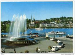 Luzern Wagenbachbrunnen - Gebruikt Circulée Used 1966 Oude Auto´s VW Kever - LU Lucerne