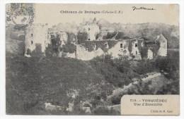 (RECTO / VERSO) LE TONQUEDEC EN 1905 - N° 715 - VUE D´ ENSEMBLE DU CHATEAU - BEAU CACHET - PLI A GAUCHE - Tonquédec