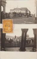 CPA PHOTO COSTA RICA SAN JOSE 2 Vues Théatre Timbre Stamp 1934 Rare - Costa Rica