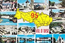 Cpm CI. 95 Val D'oise Ce Département Issu Du Nouveau Découpage De La Région Parisienne A Une Superficie De 124.857 H.... - France