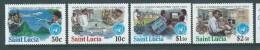 St Lucia 1983 World Communication Year Set 4 MNH - St.Lucia (1979-...)