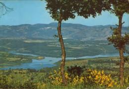 Italai - Cartolina , circolato nel 1980  -Panorama del Lago Pertusillo - 2/scans