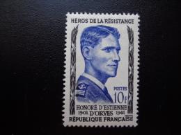France 1957 N°1101 Neuf*(charnière) Honoré D'Estienne D'Orves - Unused Stamps