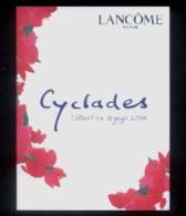 "1 X Singapore Perfume Cards Cartes Parfumees --  Lancome Cyclades - English  (3 Folds - 5"" X 3.75"" ) - Modern (ab 1961)"