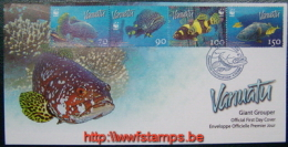 """50% DISCOUNT WWF - VANUATU - 2006 - Local FDC - 4 Stamps On 1 FDC - Fish - 2 Cancels"" - W.W.F."