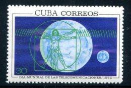 Space  Telecommunications Day Da Vinci Drawing Art 1970 Set Of 1  MNH**VF - Cuba