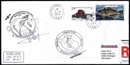 ANTARCTIC,TAAF, CROZET  6.10.2014, REGISTRED, Amazing, 2 Cachets With Signatures ,look Scan !! 22.4-36 - Antarctische Expedities