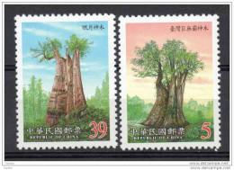 China  Chine : (42) 2000 Taiwan - Arbres Sacrés SG2650/1** - 1945-... République De Chine