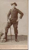 Photos Avant 1900 10,2 Par 6,2 Cm Tochon Chambéry Chasseur Alpin - Photographs