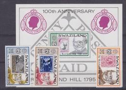 Swaziland 1979 Sir Rowland Hill 3v + M/s ** Mnh (21208) - Swaziland (1968-...)