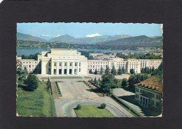 53121     Svizzera,   Geneve,   Le  Palais  Des  Nations-Unies Et Le Mont-Blanc,  VG  1958 - GE Genève