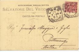 Lugo (Ravenna). 1898.  Annullo Tondo Riquadrato. - Storia Postale