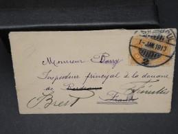 TURQUIE- PETITE ENVELOPPE DE ISTAMBUL POUR  LA FRANCE  1 JANVIER 1913   A VOIR  LOT P3735 - 1837-1914 Smyrna