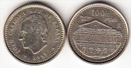 ESPAÑA 1997. JUAN CARLOS 100 PTS. FLOR DE LIS ARRIBA Y ABAJO .NUEVA.CN 4296 - 100 Pesetas