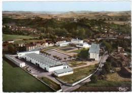 Cpsm Saverdun, Vue Aérienne, Collège Mécaniciens Machines Agricoles - France