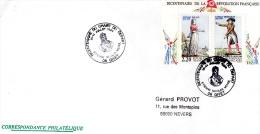 GIVET, 08 : TàD 1989 Bicentenaire Du Chant Du Départ - Etienne Nicolas Mehul - FDC
