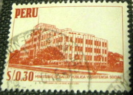 Peru 1952 Public Health Ministry $0.30 - Used - Peru