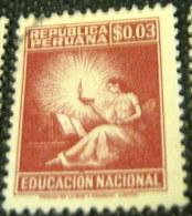 Peru 1965 Education Tax $0.03 - Used - Peru