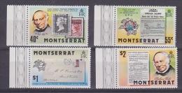 Montserrat 1979 Sir Rowland Hill 4v ** Mnh (21215) - Montserrat